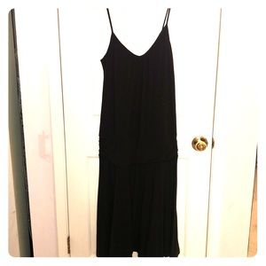 Black Banded Waist Sundress